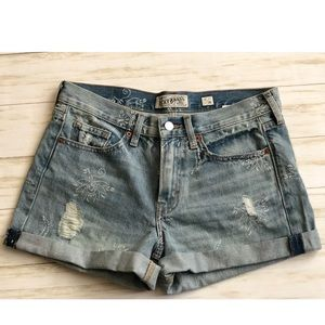 Lucky Brand Floral Distressed Shorts